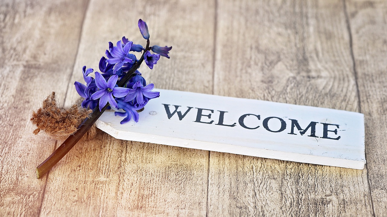 welcome-hyacinth-787841_1280